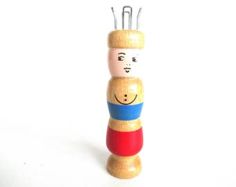 Wooden Knitting Doll, French Knitting, Knitting Nancy, Bobbin Doll, Sewing supply. #649G4EK3