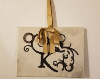 Letter Canvas Wall Hanging