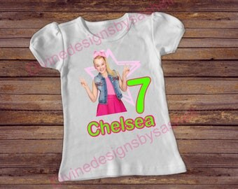 Jojo Siwa Inspired Shirt, Jojo Siwa Birthday Shirt, Birthday Shirt, Girls Shirt, Custom Shirt, 1st Birthday