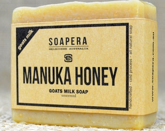 Manuka Honey Goats Milk Soap- made from fresh Australian Goats Milk and New Zealand Manuka Honey, - Soap Era all natural handmade Soap