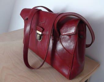 Dark red bag | Etsy