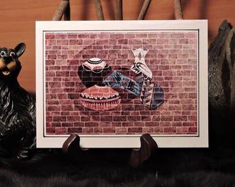 Artistic Card Set / Pots on a Brick Wall