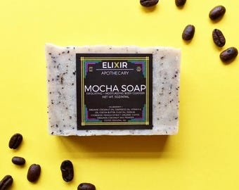 Soap - Mocha Soap - Vegan Soap - Homemade Soap - Vanilla Coffee Soap - Coffee Soap - Bath Soap - Soap Gift - Bar Soap - Soap Bars