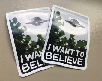 I WANT TO BELIEVE vinyl sticker