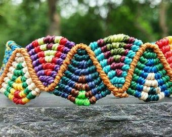 Micro macramé bracelet multicolor. Handmade, handmade