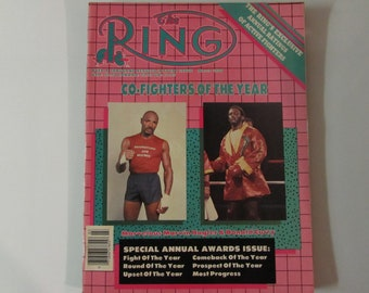 The Ring Magazine March 1986 Hagler/Curry