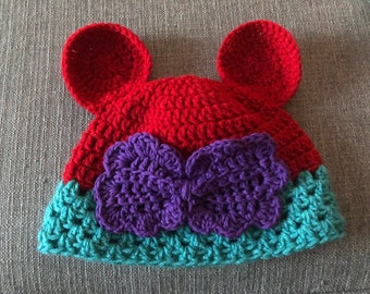 Mickey/Minnie Mouse ear beanies