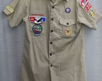 Vintage Boy Scouts of America Uniform Button-up