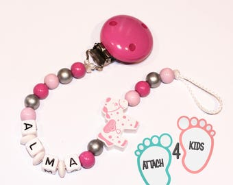 Pacifier theme pony - personalized with the name of your choice