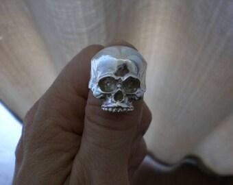 skull silver ring espectacular anillo de plata calavera craneo