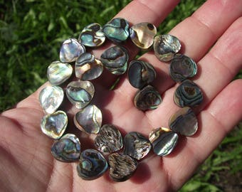 2 heart 12 MM multicolor shell beads.