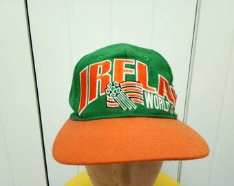 Rare Vintage IRELAND World Cup USA 94' Big Logo Cap Hat Free Size Fit All