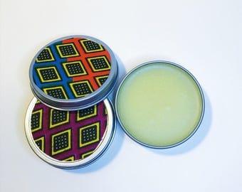 Body Balm // Scented Body Balm // African Print Tin
