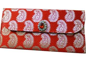 Decorative Bag Wedding Money Envelope Home Decor Designer Clutch Paper Art Fabric Brocade Money Bag Storage Gift Purse Paper Art Single Bag