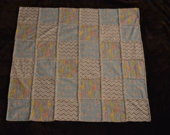 Ragged Style Baby Blanket