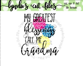 My Greatest Blessings Call Me Grandma SVG/DXF/EPS file