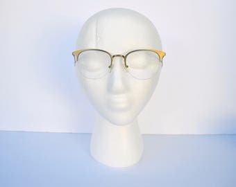 1950s CATEYE gold tone glasses