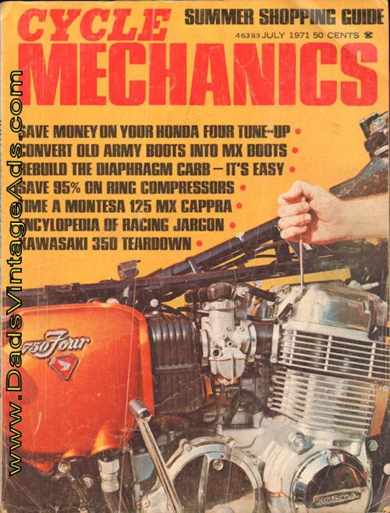 1971 July Cycle Mechanics Motorcycle Magazine Back-Issue #7107cm