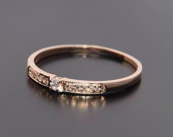 Wedding band, Diamond wedding band, Woman wedding band, Wedding ring, Gold wedding ring, Gold wedding band, Tiny wedding ring