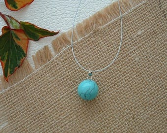 BALL 14 mm synthetic TURQUOISE pendant