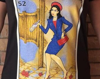 La Borracha Mexican Loteria Women's T-Shirt