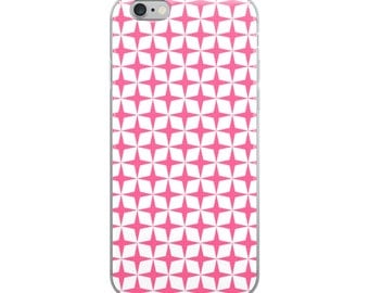 Pink stars iPhone case, bright, exciting pattern--great gift for her!