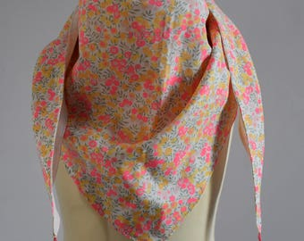 Lined with tassels scarf or Arabic scarf liberty Lemon Curd