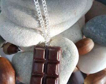Chocolate bar necklace