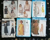 1960s-1990s Vintage Vogue Designer pattern lot of 6