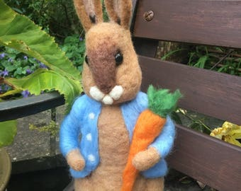 Beautiful handmade needle felted  bunny