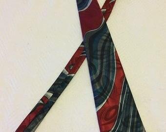 Vintage 1970s Rhynecliffe Swirl Design Necktie