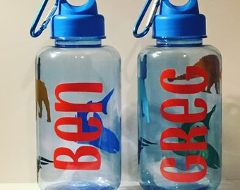 Personalized custom created childrens water bottle