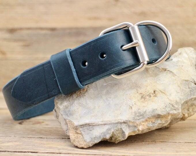 Handmade collar, FREE ID TAG, Custom leather collar, Leather dog collar, Sturdy cow leather collar, Gift, Distressed collar, Rustic collar.