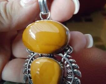 Yellow Jasper Pendant !