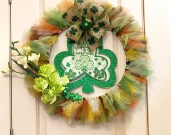 Irish- themed wreath for St. Patrick's Day