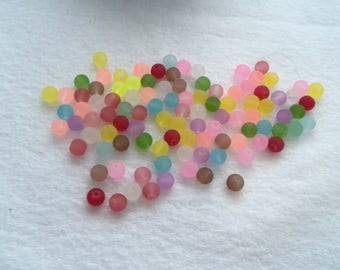 M* - 4, 6, 8, 10 mm Frosted Assortment Glass Beads (2018)