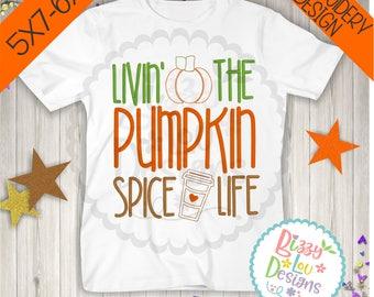 Pumpkin spice embroidery pumpkin embroidery design fall embroidery pumpkin spice embroidery design pumpkin spice design embroidery coffee