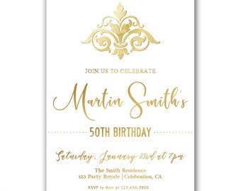 Formal Invitation Etsy - Birthday invitation gold coast