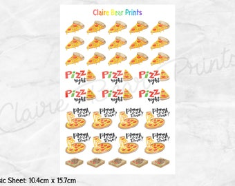 PIZZA Planner Stickers