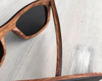 Wooden Wayfarer Style Sunglasses