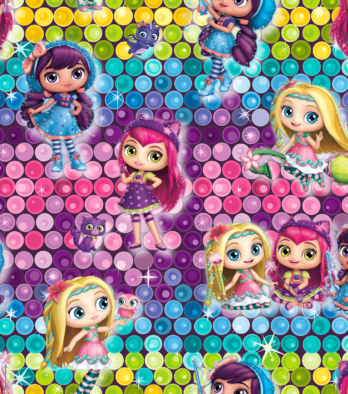 Little charmer girls ombre sequins by springs creative for Kids character fabric