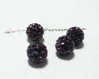 1 Pearl shambala purple quality 6mm