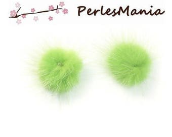 PAX 5 balls of fur very soft green 30mm S1191275 tassels