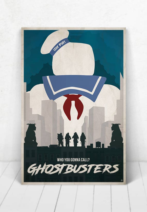 Ghostbusters Movie Poster Illustration / Ghostbusters Movie Poster / Ghostbusters / Movie Poster