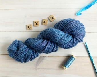 Hand dyed chunky yarn - Cyanigosa themed yarn - hand painted yarn - geek yarn - indie dyed yarn - multi tonal yarn - quick yarn