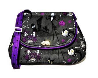 The Nightmare Before Christmas Crossbody Messenger purse, Nightmare Before Christmas hipster, Jack Skellington purse, Women's gifts