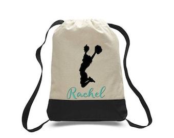 Cheerleader Gift, Cheer Gift, Cheerleader Bag, Cheerleader Drawstring Bag, Team Gift, Sports Bag, Personalized Bag,Custom Bag,Drawstring Bag