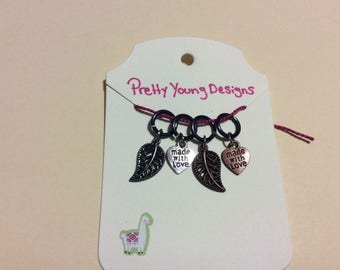 Made With Love/ Leaf Stitch Markers
