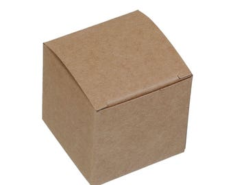4 by 5cm square shaped kraft paper gift boxes