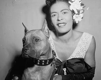 ON SALE Billie Holiday - New York City, 1947 - Jazz - Photo - Photography - Art - Photograph - Vintage - Music - Singer - Women of Jazz - Ha